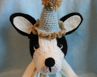 French Bulldog Crochet Dog, Stuffed Dog, Canine, Stuffed Animal, Frenchie, Black and White, Dog Lover, Collectible