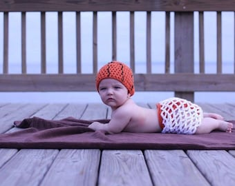 Baby basketball set, basketball hat, basketball net cocoon, nb sports set,  newborn basketball photo prop/3 Piece Set (Ready to Ship)