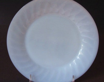 Fire King Glass Azurite Blue Swirl 1950s DINNER Plate
