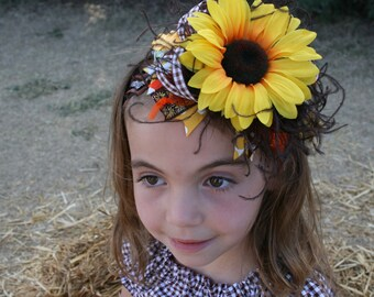 Fall Over the Top Bow Sunflower Free Shipping on All Additional Items