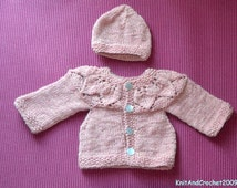 Hand Knitted Woodrose Heather Sweater Wool