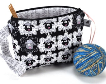 Knitting Crochet Project Bag Clutch - Sheeply