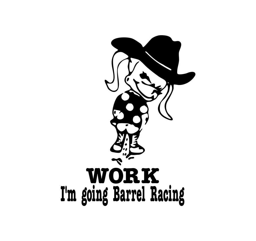 barrel racing decal - photo #12