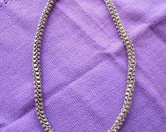 Vintage sterling silver thick chain from India