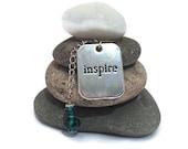 Inspire Rock Cairn, Influence, Invigorate, Motivate, Wishing Stones, Zen, Centered, Teacher Gift, Mentor, Youth Pastor, Desk Gift