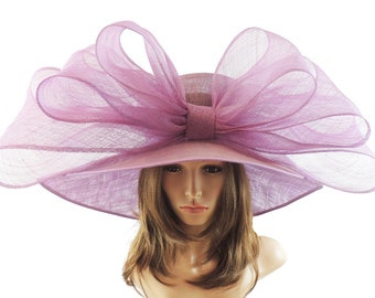 MagPie Hat in Lilac for Kentucky Derby, Weddings  (40 colours available)