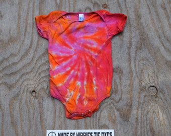 Sweet Stuff Tie Dye Baby Onesie (American Apparel Organic Cotton 12-18 Months 4001ORG) (One of a Kind)