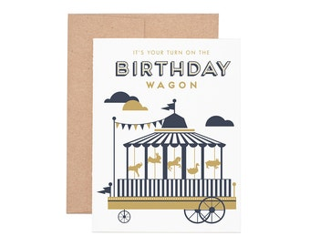 Boxed Cards - Birthday Wagon Letterpress Greeting Cards - Boxed Set | Birthday Cards | Happy Birthday