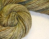 Reserved for Samwestley - Olive Branch Handspun - 344 yds - Thick-&-Thin - Single Ply - Knit - Crochet - Weave - Fulling - Fiber Arts