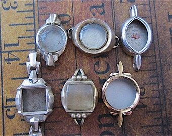 Vintage  Watch parts - watch Cases -  Steampunk - Scrapbooking  W68