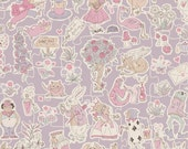 Liberty Tana Lawn Fabric Gallymoggers Reynard G Fat Quarter Alice in Wonderland Lilac