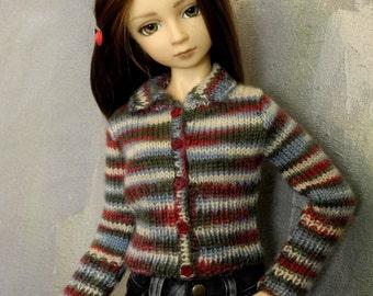 SD BJD cardigan sweater Sleigh Ride