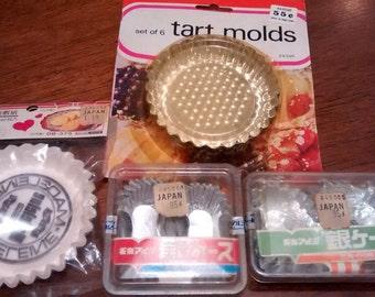Vintage Baking Molds, Papers, Bento Foils