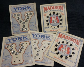 Vintage Dress Snaps by Madison and York on Cards