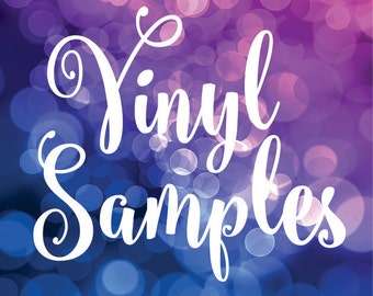 Vinyl Color Samples - set of 6 - choose colors - wall decal color samples
