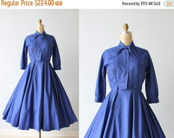 SALE Vintage 1950s Dress / 50s Dress / Shirtwaist Dress / Cotton Dress / Full Skirt / B. Altman and Co.