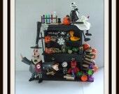 dollhouse miniature nightmare before Christmas inspired hutch ooak Halloween
