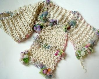 custom listing for patrizia - soft hand knit scarf alpaca spring scarf