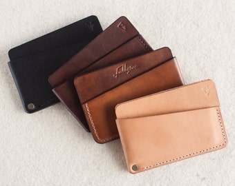 3 Pocket Minimal Leather Wallet // by fullgive