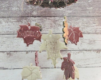 Family Tree Memorial Wind Chime Personalized