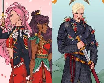 Lady Knight Prints