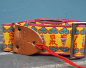 Vintage Bobby Lee Guitar Strap Asian Theme
