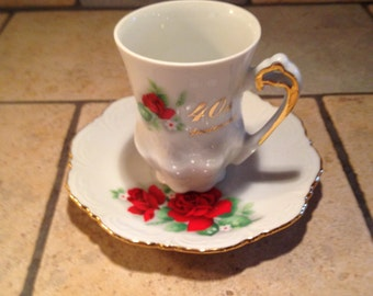 40th Anniversary China Cup and Saucer Set