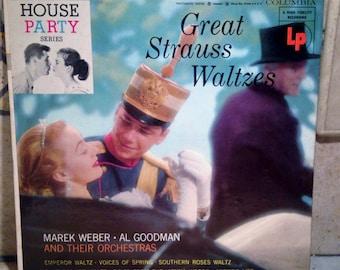 Columbia Great Strauss Waltzes Record