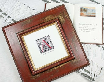 5x5 inch Antique Style Wide Bordo Red & Gold Deluxe Photo Frame for Wedding/Desktop/Instagram Square Photos 5x5 inch bordo-red Photo Frame