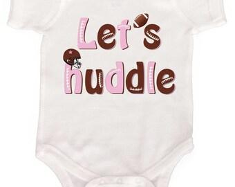 Baby Girl Bodysuit Funny Football Baby Bodysuit Newborn Girl Creepers to Girly Tees