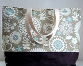Gemma Latte XL Extra Large Beach Bag / BIG Tote Bag - Ready to Ship
