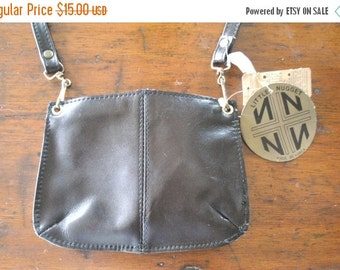 SALE 40% OFF Tiny Brown Leather Bag Purse / DEADSTOCK