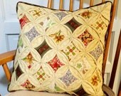 Quilted Cathedral Window Pillow Cover