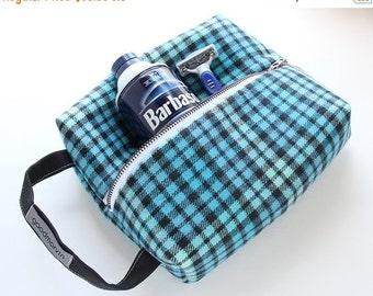 Mens Shaving Kit, Dopp Kit, Travel Kit, Vegan Shaving Kit, Travel Case, Shaving Bag, Aqua Shaving Kit, Toiletries Bag, Groomsmen Gift