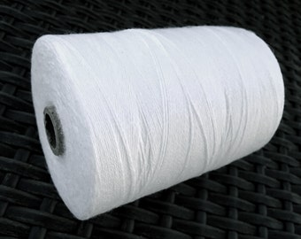 White Linen & Organic Cotton Cord 0.7mm - 10 meters / 32.8 ft