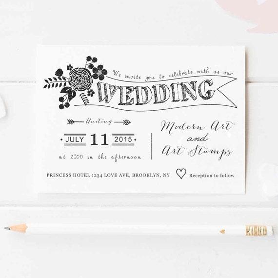 Wedding Invitation Stamp Wedding Stamp Custom Wedding