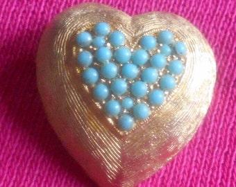 1 DAY SALE Vintage Heart Brooch