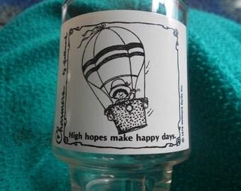 Hallmark Charmers Glass, 1976, High Hopes make Happy Days
