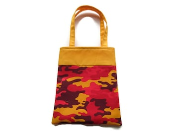 Small Camo Gift Bag - Goodie Bag - Mini Tote