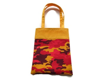 Handmade Fabric Camo Gift/Goodie Bag - Camo