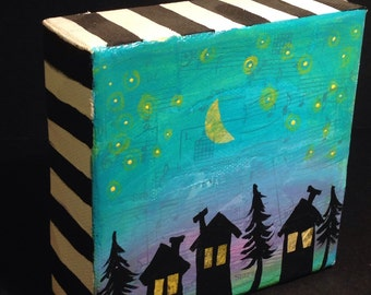 "Original Mini Canvas ""Stars in the Forest"""