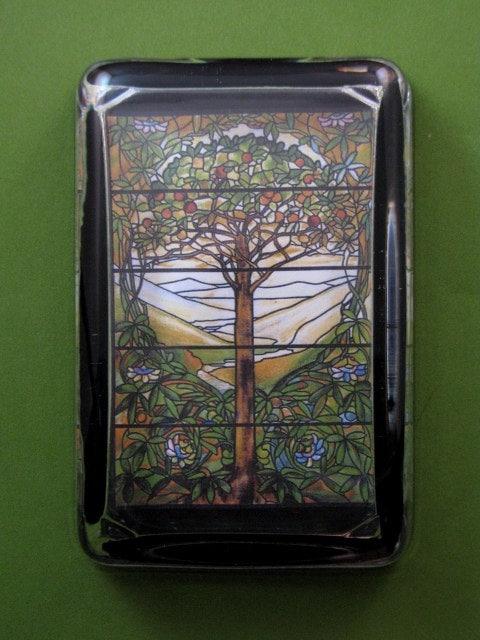 Tiffany vitrail verre arbre de vie fen tre grand rectangle for Fenetre rectangle