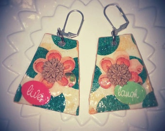 papier mache earrings