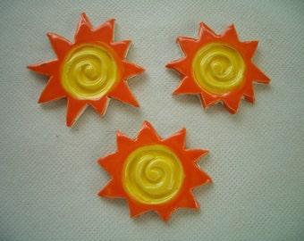 C3P -  Swirly NEON SUNS - Ceramic Mosaic Tiles