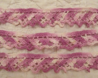 """Vintage Crocheted Lace 31"""" x 1 1/8"""""""
