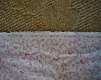 1 and a half Yards of Waverly Fabric - Savoy
