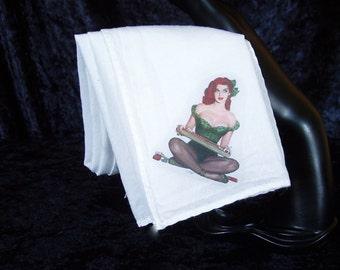 Pinup Hankie J - Cigarette Girl - napkin or bandanna