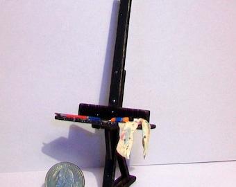 Miniature Artist Easel  1:12 scale