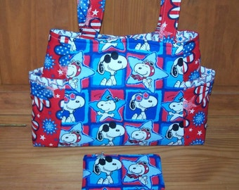Snoopy Purse and Zippered Pouch