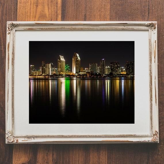 City Skyline Wall Print San Diego Photography For Home Decor
